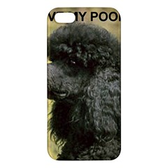 Poodle Love W Pic Black Apple iPhone 5 Premium Hardshell Case