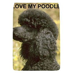 Poodle Love W Pic Black Flap Covers (S)