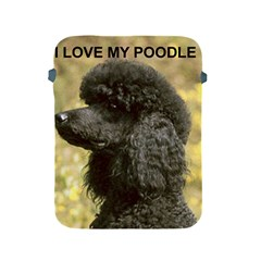 Poodle Love W Pic Black Apple iPad 2/3/4 Protective Soft Cases
