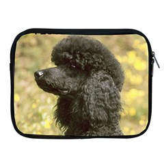 Poodle Love W Pic Black Apple iPad 2/3/4 Zipper Cases