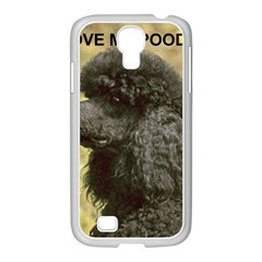 Poodle Love W Pic Black Samsung GALAXY S4 I9500/ I9505 Case (White)