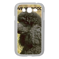 Poodle Love W Pic Black Samsung Galaxy Grand DUOS I9082 Case (White)