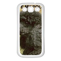 Poodle Love W Pic Black Samsung Galaxy S3 Back Case (White)