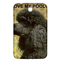 Poodle Love W Pic Black Samsung Galaxy Tab 3 (7 ) P3200 Hardshell Case
