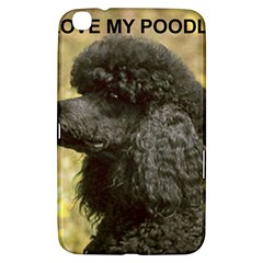 Poodle Love W Pic Black Samsung Galaxy Tab 3 (8 ) T3100 Hardshell Case