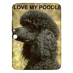 Poodle Love W Pic Black Samsung Galaxy Tab 3 (10.1 ) P5200 Hardshell Case