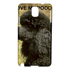 Poodle Love W Pic Black Samsung Galaxy Note 3 N9005 Hardshell Case