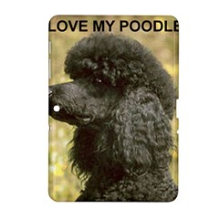 Poodle Love W Pic Black Samsung Galaxy Tab 2 (10.1 ) P5100 Hardshell Case