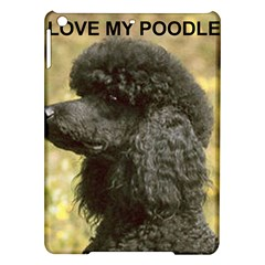 Poodle Love W Pic Black iPad Air Hardshell Cases
