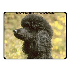 Poodle Love W Pic Black Double Sided Fleece Blanket (Small)