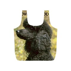 Poodle Love W Pic Black Full Print Recycle Bags (S)