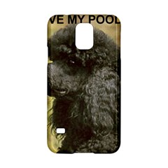 Poodle Love W Pic Black Samsung Galaxy S5 Hardshell Case