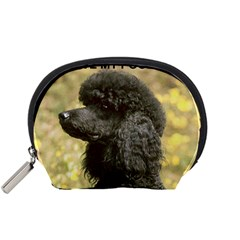 Poodle Love W Pic Black Accessory Pouches (Small)