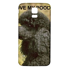 Poodle Love W Pic Black Samsung Galaxy S5 Back Case (White)