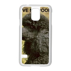 Poodle Love W Pic Black Samsung Galaxy S5 Case (White)