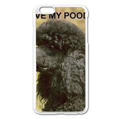 Poodle Love W Pic Black Apple iPhone 6 Plus/6S Plus Enamel White Case