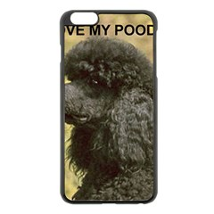 Poodle Love W Pic Black Apple iPhone 6 Plus/6S Plus Black Enamel Case