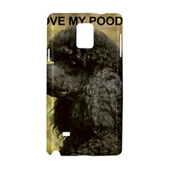 Poodle Love W Pic Black Samsung Galaxy Note 4 Hardshell Case
