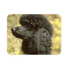 Poodle Love W Pic Black Double Sided Flano Blanket (Mini)