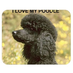 Poodle Love W Pic Black Double Sided Flano Blanket (Medium)
