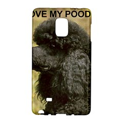 Poodle Love W Pic Black Galaxy Note Edge