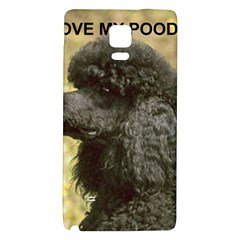Poodle Love W Pic Black Galaxy Note 4 Back Case