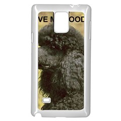 Poodle Love W Pic Black Samsung Galaxy Note 4 Case (White)