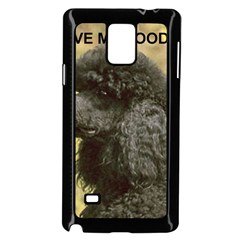 Poodle Love W Pic Black Samsung Galaxy Note 4 Case (Black)