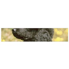 Poodle Love W Pic Black Flano Scarf (Small)
