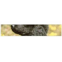 Poodle Love W Pic Black Flano Scarf (Large)