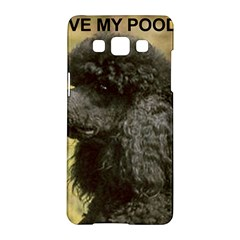 Poodle Love W Pic Black Samsung Galaxy A5 Hardshell Case
