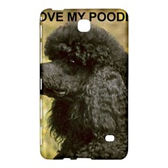 Poodle Love W Pic Black Samsung Galaxy Tab 4 (7 ) Hardshell Case