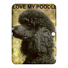 Poodle Love W Pic Black Samsung Galaxy Tab 4 (10.1 ) Hardshell Case