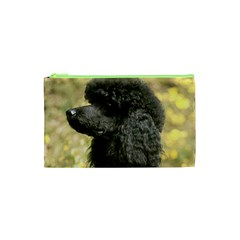 Poodle Love W Pic Black Cosmetic Bag (XS)