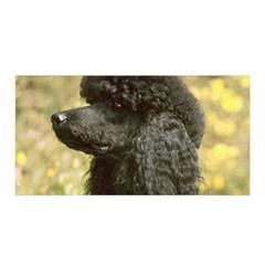 Poodle Love W Pic Black Satin Wrap