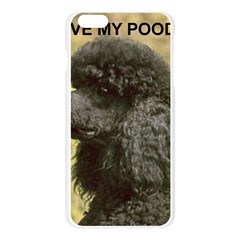 Poodle Love W Pic Black Apple Seamless iPhone 6 Plus/6S Plus Case (Transparent)