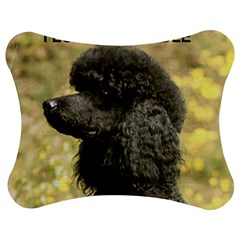 Poodle Love W Pic Black Jigsaw Puzzle Photo Stand (Bow)