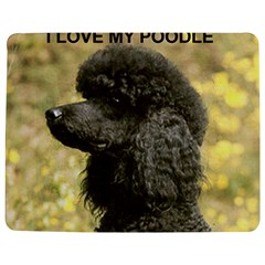 Poodle Love W Pic Black Jigsaw Puzzle Photo Stand (Rectangular)