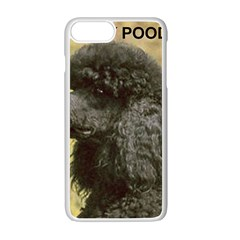 Poodle Love W Pic Black Apple iPhone 7 Plus White Seamless Case