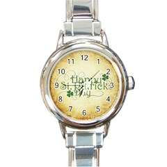 Irish St Patrick S Day Ireland Round Italian Charm Watch