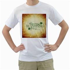 Irish St Patrick S Day Ireland Men s T Shirt (white) (two Sided)