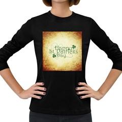 Irish St Patrick S Day Ireland Women s Long Sleeve Dark T Shirts