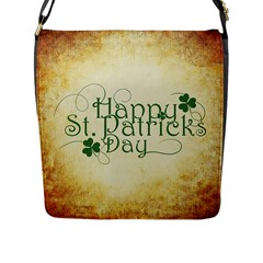 Irish St Patrick S Day Ireland Flap Messenger Bag (L)