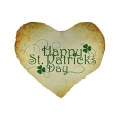Irish St Patrick S Day Ireland Standard 16  Premium Flano Heart Shape Cushions