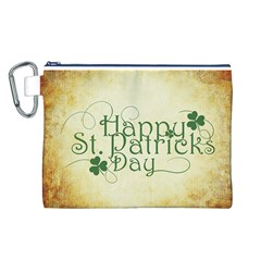 Irish St Patrick S Day Ireland Canvas Cosmetic Bag (L)