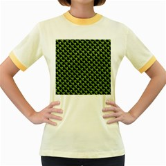 St Patrick S Day Background Women s Fitted Ringer T-Shirts