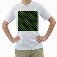 St Patrick S Day Background Men s T-Shirt (White) (Two Sided)