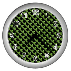 St Patrick S Day Background Wall Clocks (Silver)