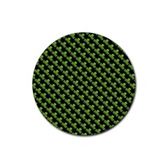 St Patrick S Day Background Rubber Coaster (Round)