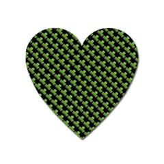 St Patrick S Day Background Heart Magnet